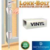 Gate CraftersLock Bolt  Drop Rod for Vinyl (LB124BXWT-KSA)