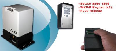Security Package, Single Slide Gate Opener - Estate Swing E-SL 1800