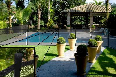 Fully Assembled Child Safety Pool Fence Ordered In Full
