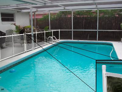 Fully assembled child safety pool fence ordered in full for Pool lanai cost