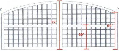 South Hampton Convex w/ English Lattice - 10' South Hampton w/ English Lattice
