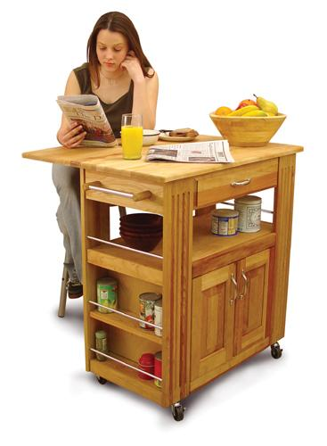 Heart-of-the-Kitchen Island with Drop Leaf (Product ID = 15445)Heart-of-the-Kitchen Island with Drop Leaf (Product ID = 15445)--Unfinished