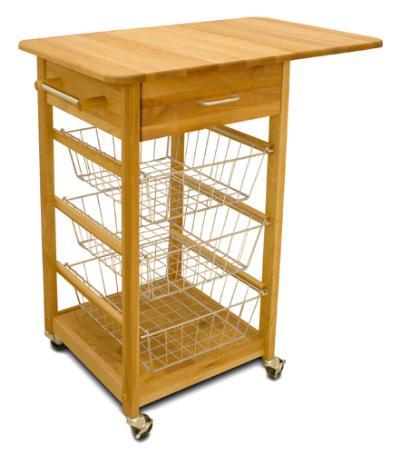 Single Drop Leaf Basket Cart (Product ID = 7225)Single Drop Leaf Basket Cart (Product ID = 7225)--Unfinished