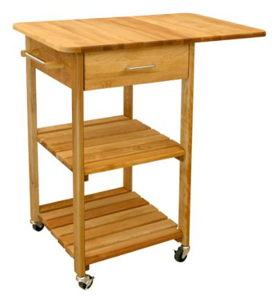 Drop Leaf Two-Shelved Cart (Product ID = 7227)Drop Leaf Two-Shelved Cart (Product ID = 7227)--Unfinished