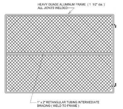 Gate Crafters Chainlink Single Gate Frame Commercial 8' Tall (ChainLinkKit) - Please select a width