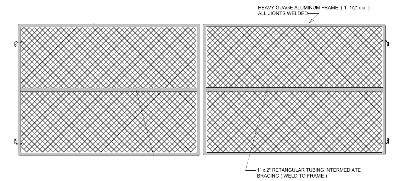 Gate Crafters Chainlink Dual Gate Frame Commercial 8' Tall (ChainLinkKit) - Please select a width
