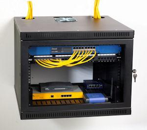 8U Security Wall Server Rack Enclosure by Kendall Howard (1915-3-100-08)