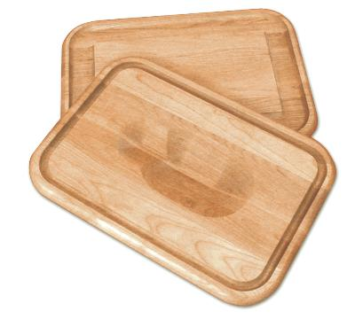 Versatile Meat holding Wedge/Trencher Board (Product ID = 1316)