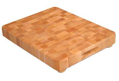 End Grain Chopping Block w/ Feet (Product ID = 1814)