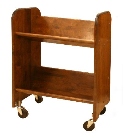 BookMaster Walnut Stain Birch - Tilted Shelves (Product ID = 3311)