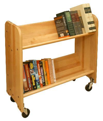 Rol-Rack Natural Birch - Tilted Shelves (Product ID = 3312)
