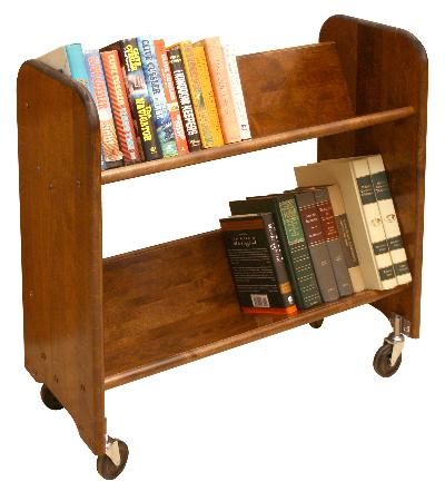 Rol-Rack Walnut Stained Birch - Tilted Shelves (Product ID = 3313)