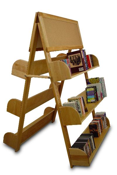 A-Frame With Two Cork Boards & 6 Adjustable Shelves (Product ID = 3340)