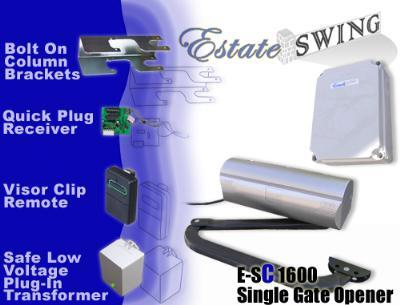 Estate Swing E-SC 1602 Column Mountable Dual Swing Gate Opener