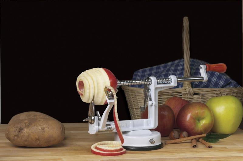 Universal Apple Peeler with Suction Cup Base