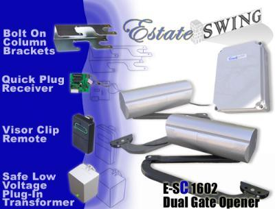 Estate Swing E-SC 1602 Column Mount Dual Swing Gate Opener