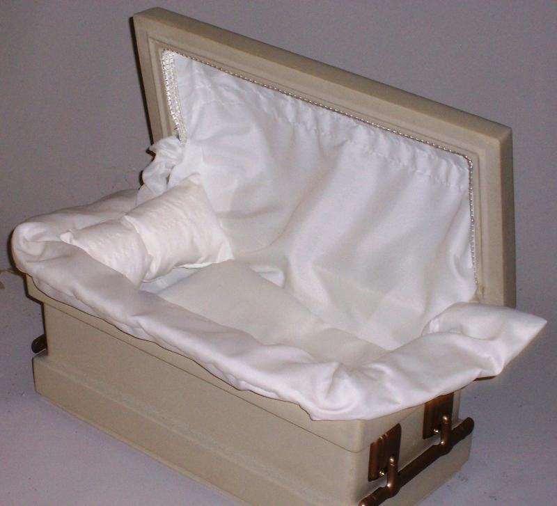 Durolon Small Eternal Series Pet Casket / Vault Combination - Crepe Interior