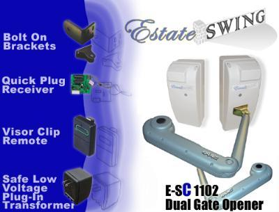 Estate Swing E-SC 1102 Column Mount Dual Swing Gate Opener