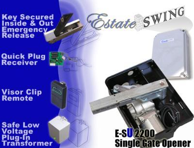 Estate Swing E-SU 2200 Single Swing Underground Gate Opener