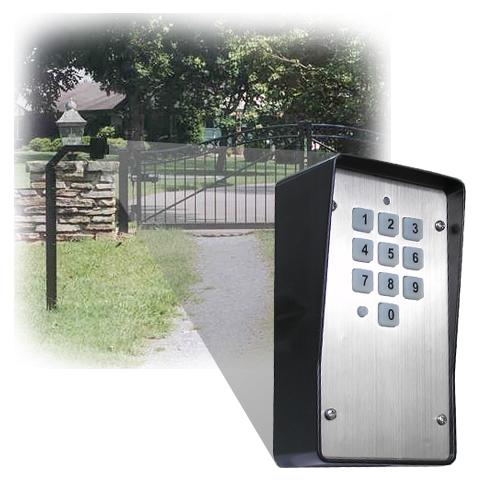 wired wireless stainless steel keypad wkp p. Black Bedroom Furniture Sets. Home Design Ideas