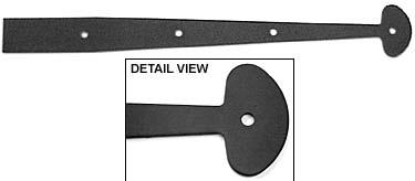 Acorn 17-1/4' (438mm) Smooth Iron Dummy Strap w/Bean Design - EACH (Black)(ACO-AILBP)