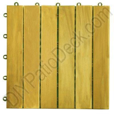 Teak Finish 6 Slat Acacia Plantation Hardwood Exterior Tiles