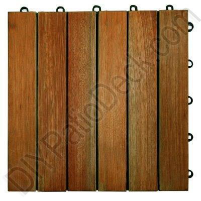 High Density Eucalyptus 6 Slat Exterior Tiles