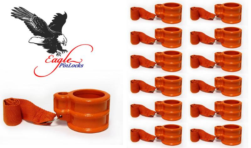 Trailer King Pin Lock (Eagle King Pin Lock) Keyed Unique <b>Set of 12</b>