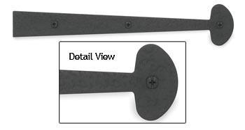 Acorn 12' (305mm) Rough Iron Dummy Strap w/Bean Design - EACH (Black)(ACO-RHYBP)