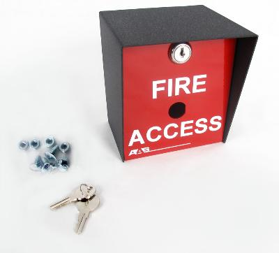 Fire Access Box Red for Safety  - Knox Lock Key Switch Model (15-013)