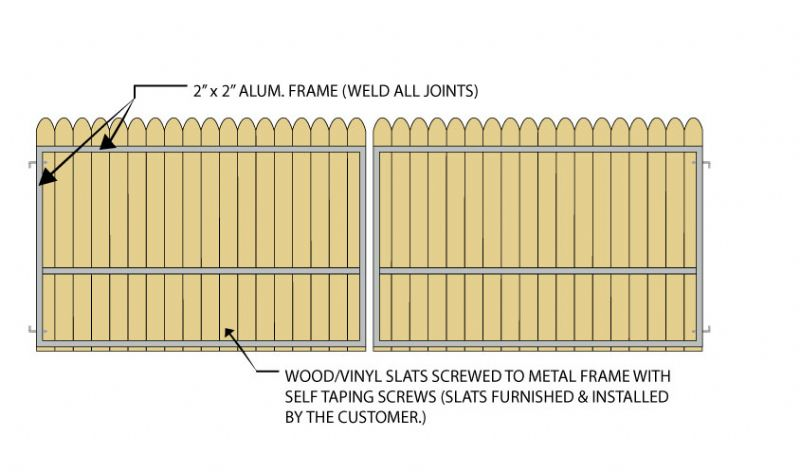 Gate Crafters Vinyl/Wood Slat Dual Gate Frame (VinylKit) - 10\' (5 ...