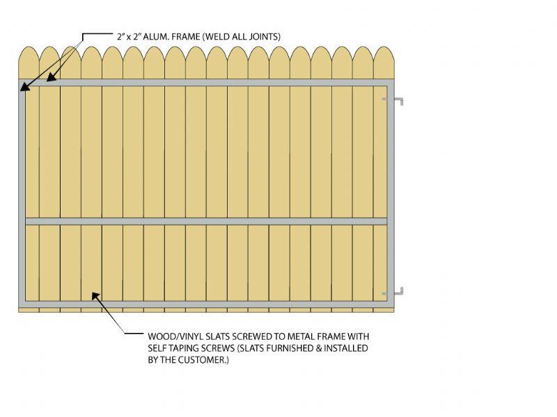 Gate Crafters Vinyl/Wood Slat Single Gate Frame (VinylKit) - Please select a width