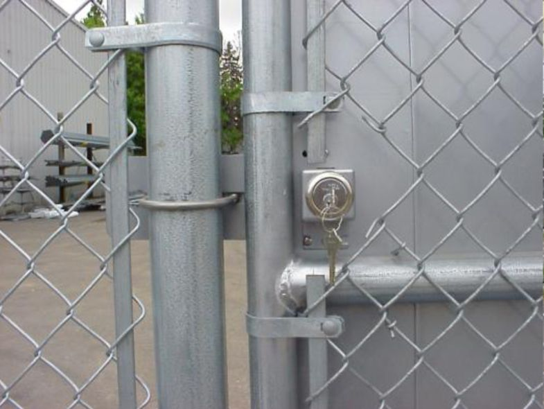 Deluxe Panic Exit Bar Kit For Chain Link Pedestrian Gate