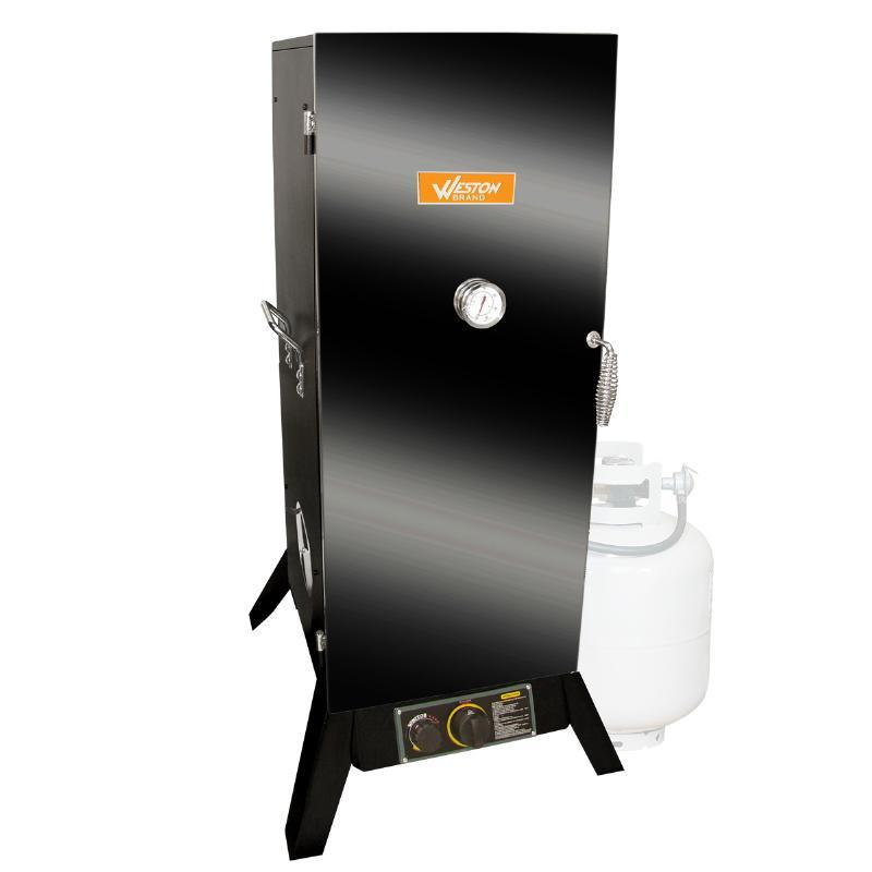 Weston / Pragotrade Powder Coated 30' Outdoor Vertical Propane Smoker (47-0701-W)
