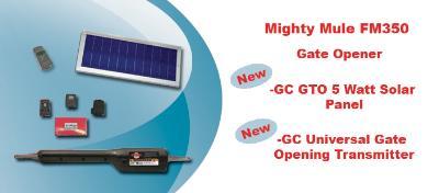 Mighty Mule FM350 Single Gate Opener Packages - 5 Watt Solar Package