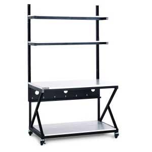 "48"" Performance Work Bench with Full Bottom Shelf by Kendall Howard (5000-3-200-48)"