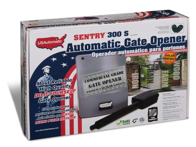 U S Automatic Sentry 300 Series Single Swing Solar Gate