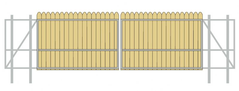 Gate Crafters Vinyl/Wood Slat Dual Slide Gate Frame - Please select a width