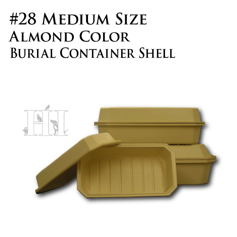 Almond #28 Burial Container Shell