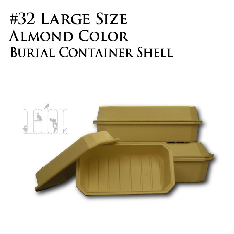 Almond #32 Burial Container Shell