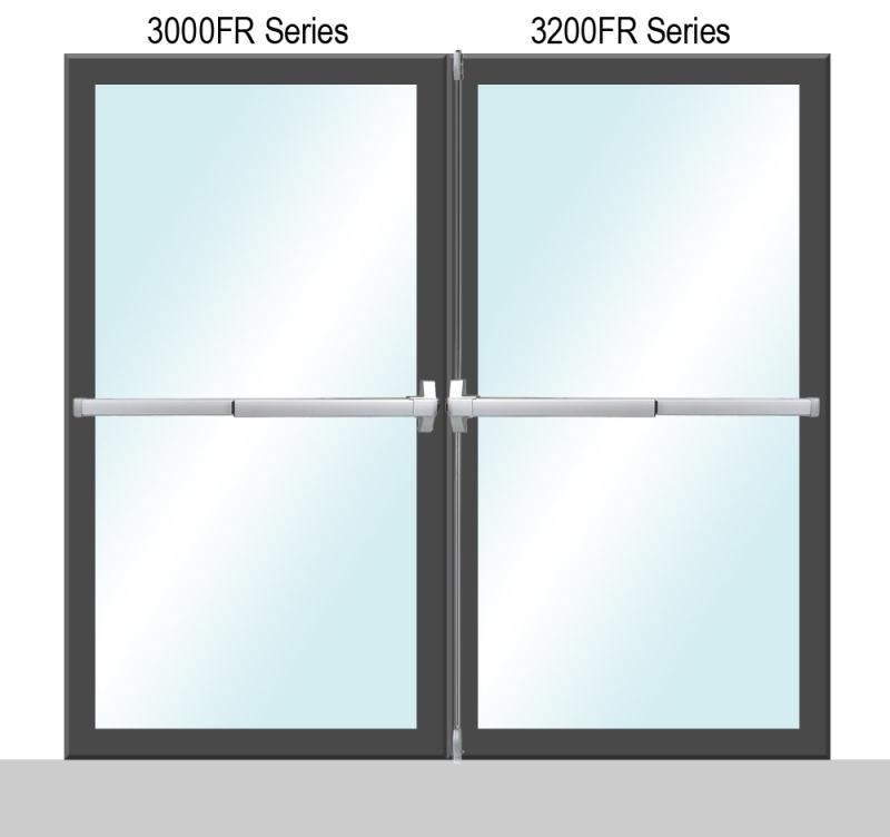 Sentry Safety 3000/3200 Fire Rate Series Panic Bar For Double Doors - P (Painted)