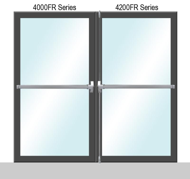 4000/4200 Fire Rate Series Panic Exit Dual Door Application - P (Painted)