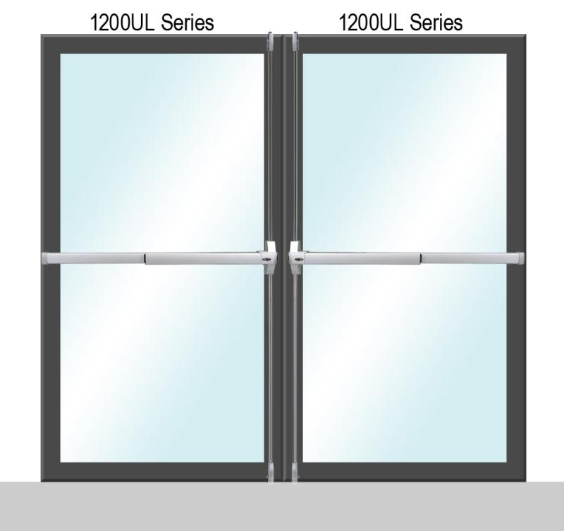 Sentry Safety 1200UL Key Alike Series Panic Exit Dual Door Application - P (Painted)