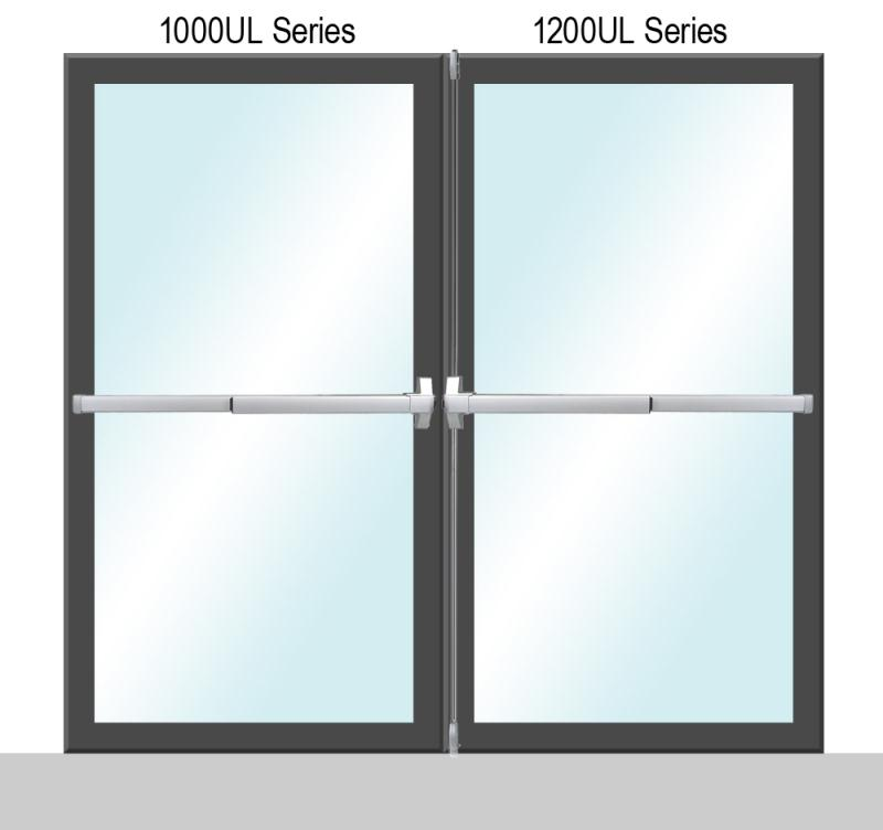 1000/1200 UL Series Panic Exit Dual Door Application - P (Painted)