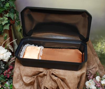 "Small 18"" STANDARD Pet Casket - 4 Color Options - by Newnak  - Black/Gold"
