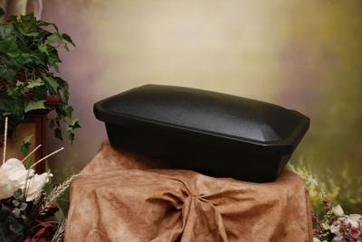 "Large 32"" ECONOMY Shell Pet Casket by Newnak  - Black"