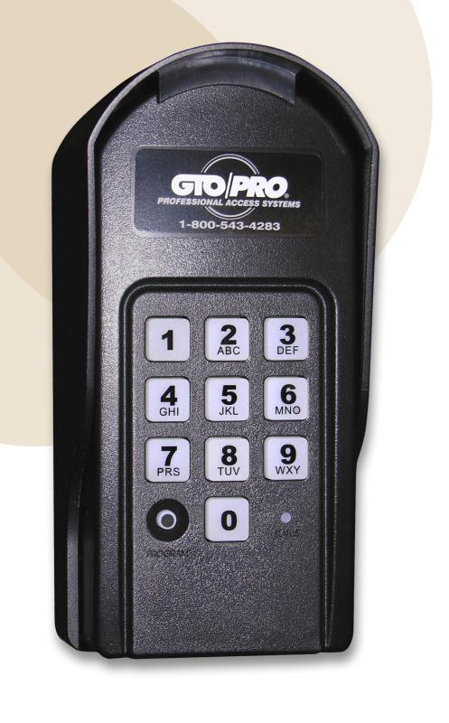 Gto Digital Keypad F310 Wired Or Wireless Mighty