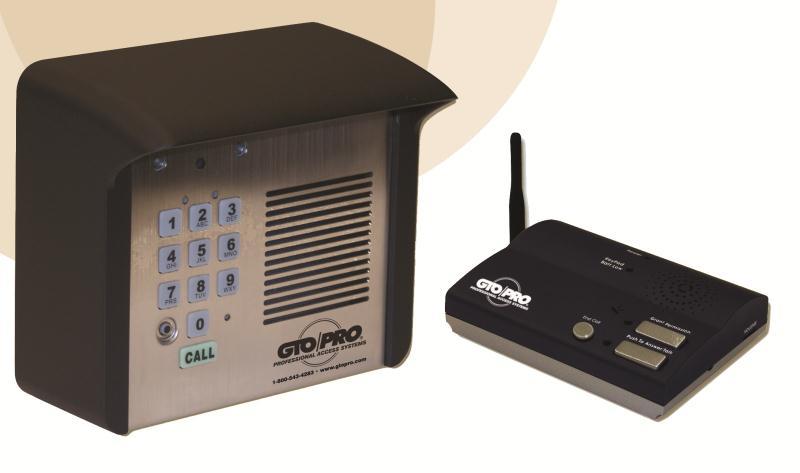GTO/PRO Wireless Intercom and Keypad (F3100MBC)