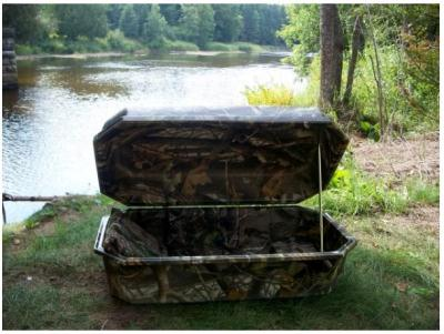 32 Realtree® Hardwoods Camo Large Pet Casket - Comfort Style Hoegh - Hardwoods Green HD® Interior