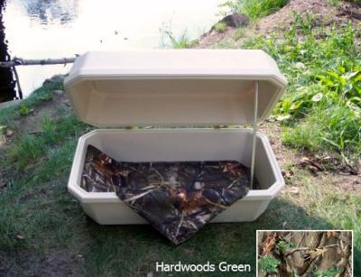 #24 Hoegh Original Pet Casket - Comfort Style Interior - See Options - Almond w/ Hardwoods Green Interior